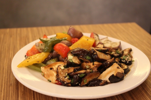 Roasted Vegtables and Wild Mushroom Tofu