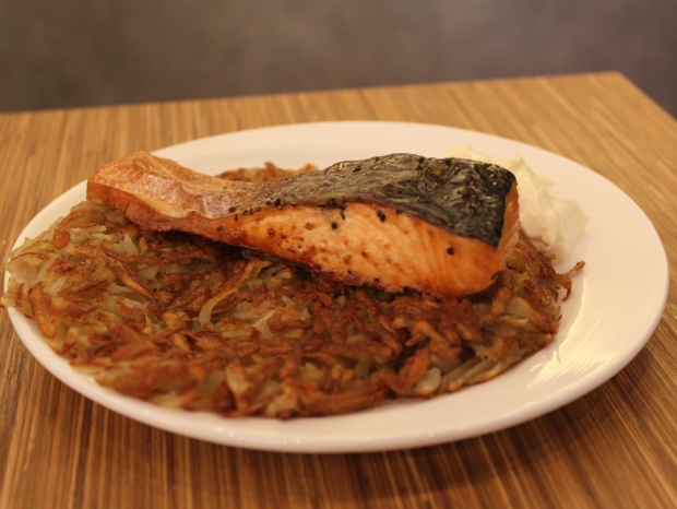 Rosti with Salmon Slab