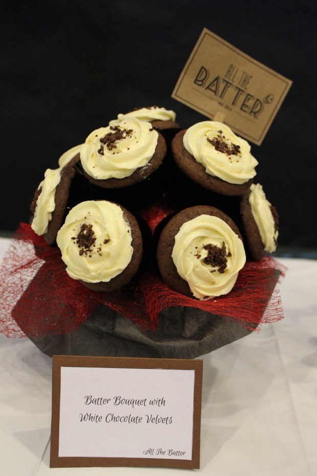The Batter Bouquet with White Chocolate Velvets
