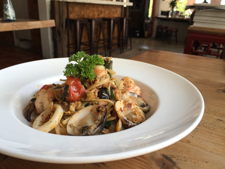 Seafood Tom Yum Pasta